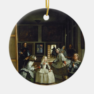 Las Meninas or The Family of Philip IV, c.1656 Round Ceramic Decoration