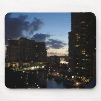 Las Olas River Sunset Mouse Mat