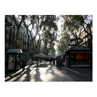Las Ramblas Barcelona postcard