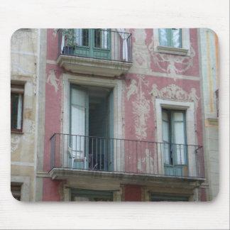 Las Ramblas - pink hotel Mouse Mat