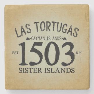 Las Tortugas EST. 1503 Rustic Stone Coaster
