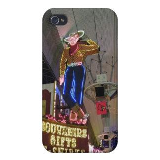 Las Vega Cowboy Neon Sign iPhone 4 Cover