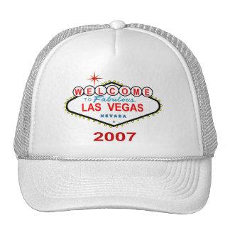 Las Vegas 2007 White Cap Hat