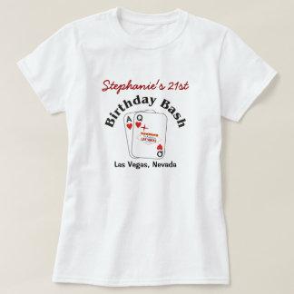 Las Vegas 21 Birthday Female T-Shirt