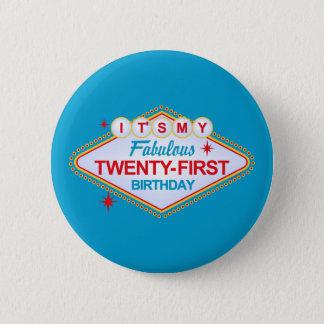 Las Vegas 21st Birthday 6 Cm Round Badge