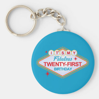 Las Vegas 21st Birthday Key Ring