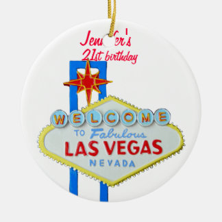 Las Vegas 21st Birthday Pendant Christmas Ornament