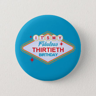 Las Vegas 30th Birthday 6 Cm Round Badge
