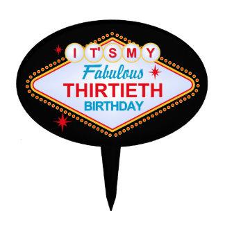Las Vegas 30th Birthday Cake Toppers