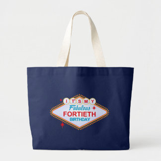 Las Vegas 40th Birthday Large Tote Bag