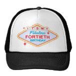 Las Vegas 40th Birthday Trucker Hats