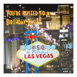 Las Vegas 50th Birthday Party Invite