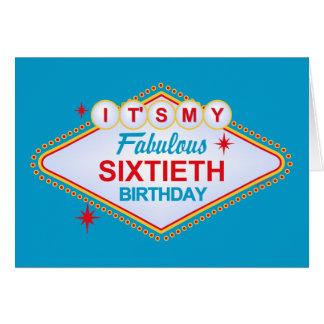 Las Vegas 60th Birthday Card