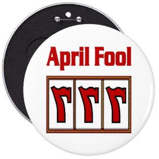 Las Vegas 777 April Fool Button RED