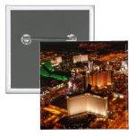 Las Vegas aerial view from a blimp 15 Cm Square Badge