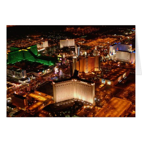 Las Vegas aerial view from a blimp Card