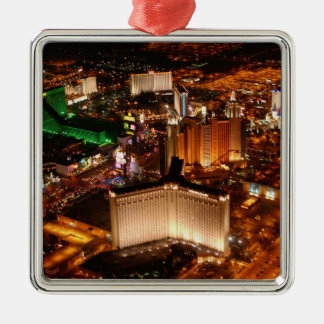 Las Vegas aerial view from a blimp Christmas Ornament