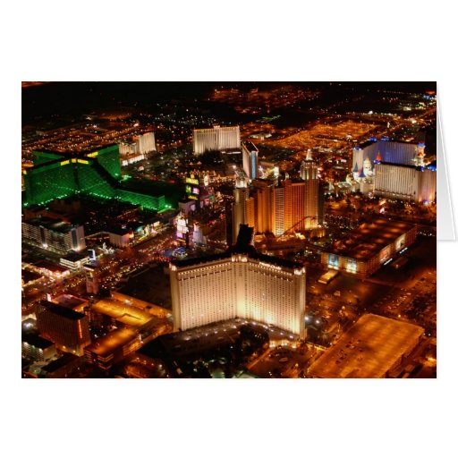 Las Vegas aerial view from a blimp Greeting Card