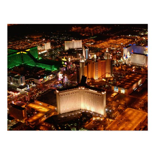 Las Vegas aerial view from a blimp Postcard