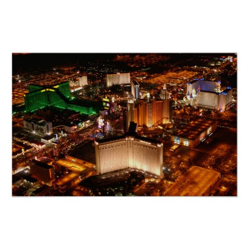 Las Vegas aerial view from a blimp Print