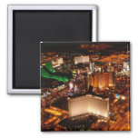 Las Vegas aerial view from a blimp Square Magnet