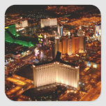 Las Vegas aerial view from a blimp Square Sticker