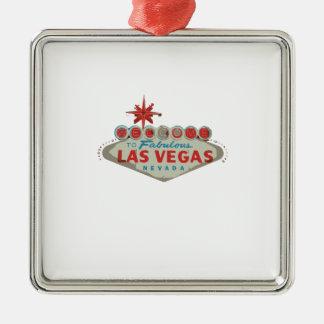 las vegas.ai Silver-Colored square decoration