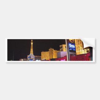 Las Vegas at night Bumper Sticker