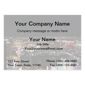 Las Vegas at Night Pack Of Chubby Business Cards