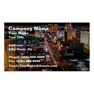 Las Vegas at Night Pack Of Standard Business Cards