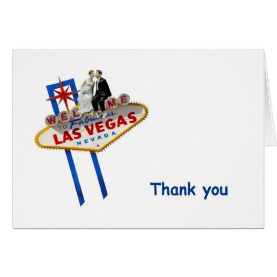 Las Vegas B&G Topper Thank you Cards