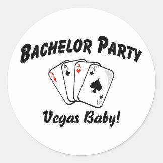 Las Vegas Bachelor Party Round Sticker