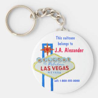 Las Vegas Bag Tags Keychain