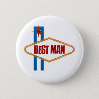 Las Vegas Best Man 6 Cm Round Badge