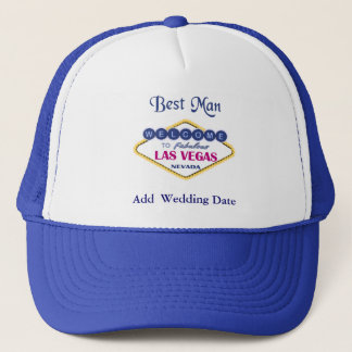 Las Vegas Best Man Hat. Trucker Hat