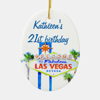 Las Vegas Birthday 21 Christmas Ornament