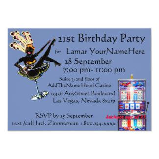 Las Vegas Birthday Boys Night Out 13 Cm X 18 Cm Invitation Card