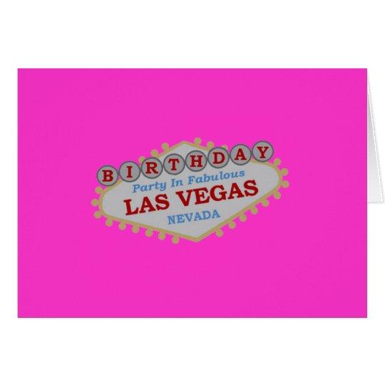 LAS VEGAS BIRTHDAY PARTY Card