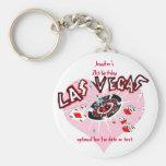 Las Vegas Birthday Party Favours Basic Round Button Key Ring