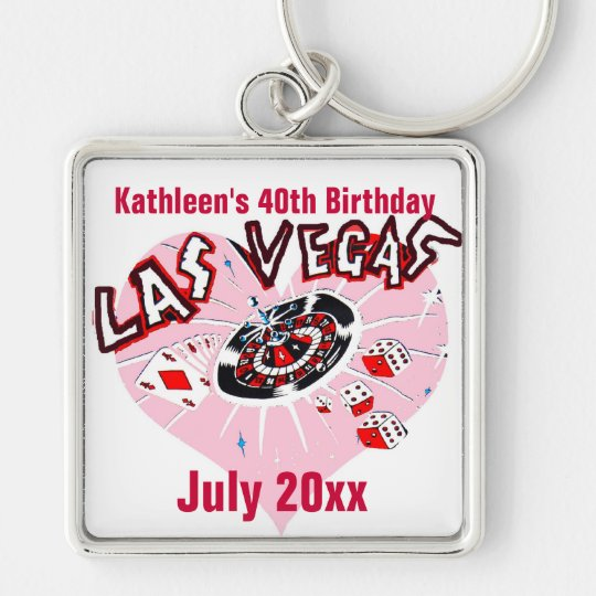 Las Vegas Birthday Party for Her Key Ring