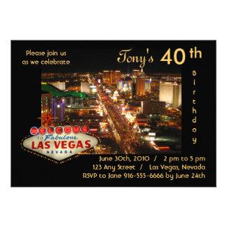 Las Vegas Birthday Party Invitation