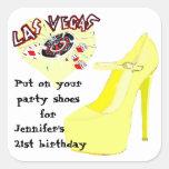 Las Vegas Birthday Party Shoes