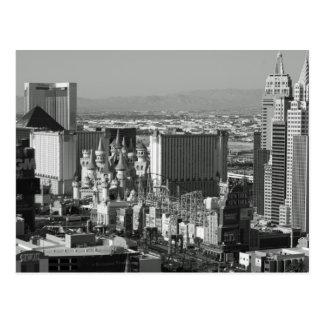 Las Vegas Black and White Photo Post Card