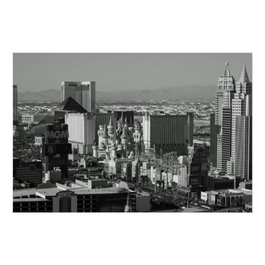 Las Vegas Black and White Photo Poster