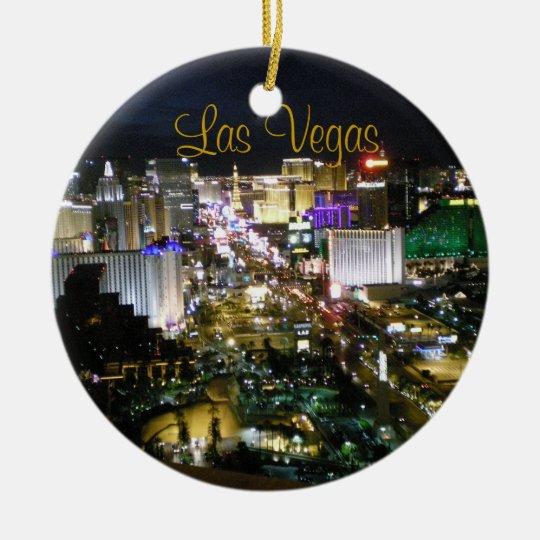 Las Vegas Boulevard Night View Christmas Ornament