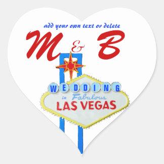 Las Vegas Bride and Groom Heart Heart Sticker