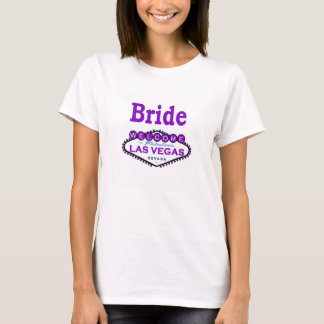 Las Vegas Bride Baby Doll Tee Purple