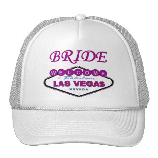 Las Vegas BRIDE Cap! NEW Plum Color Trucker Hats