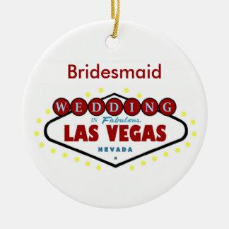 Las Vegas Bridesmaid Keepsake Wedding Ornament
