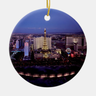Las Vegas by Night 3 Christmas Ornament